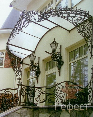 козырек на дом