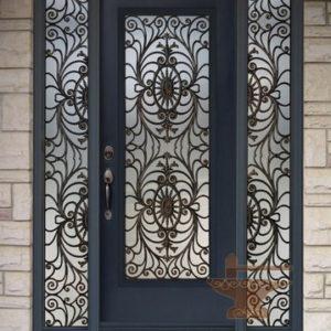 Входные двери кованые