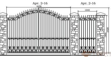 Эскизы, ворота