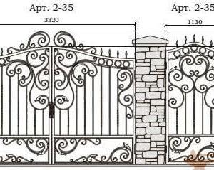 Эскизы. Ворота и калитки кованые