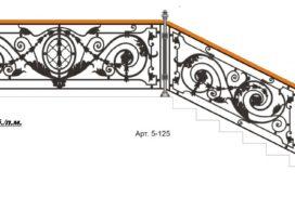 Эскизы. Перила, балконы кованые