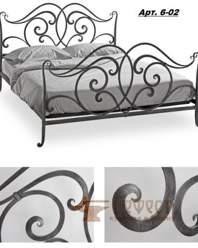 Эскиз кованой кровати