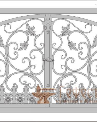 Эскиз кованой решетки для камина