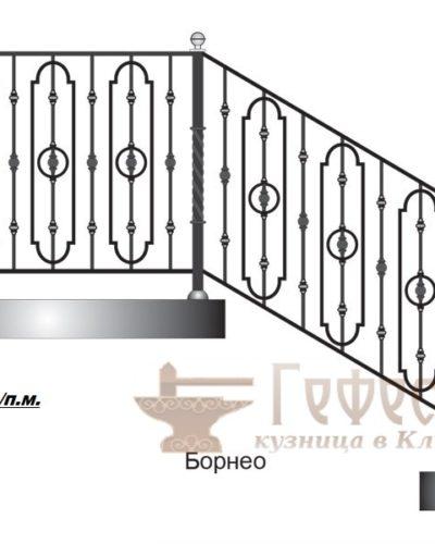 Эскиз кованых перил для лестниц и балконов