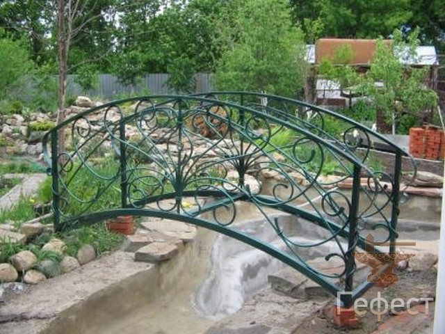 Железные мостики на даче своими руками