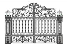 Эскизы. Ворота, калитки кованые